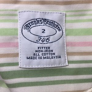 Brooks Brothers Tops - Brooks Brothers Sz 2 Non-iron Striped Dress Shirt